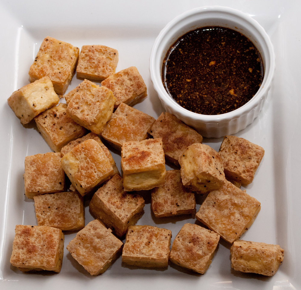 Roasted Tofu With Wasabi Dipping Sauce - Baked In