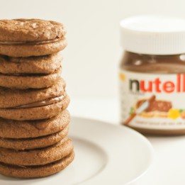 Salted Nutella Sandwich Cookies