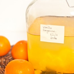 Vanilla-Tangerine Infused Vodka