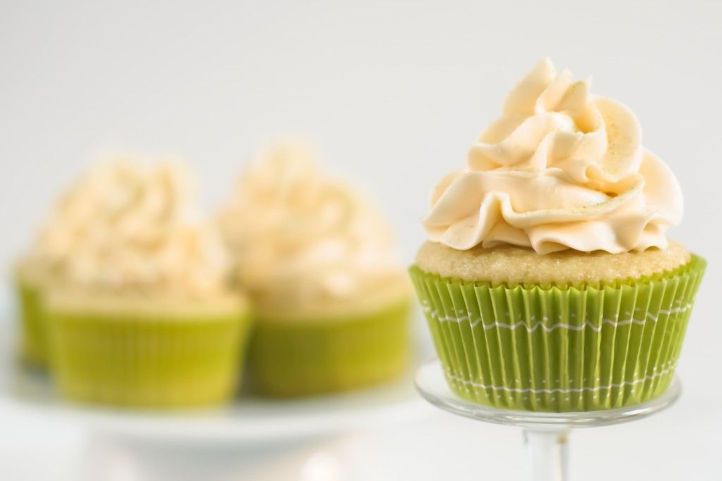 Green Tea Cupcakes with Honey Frosting - Baked In