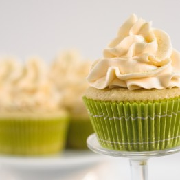 Green Tea Cupcakes with Honey Frosting