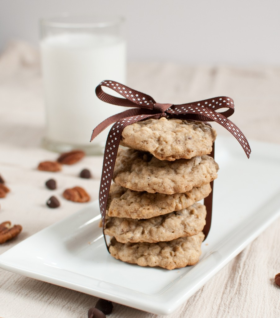 Oatmeal Chocolate Chip Pecan Cookies - Baked In