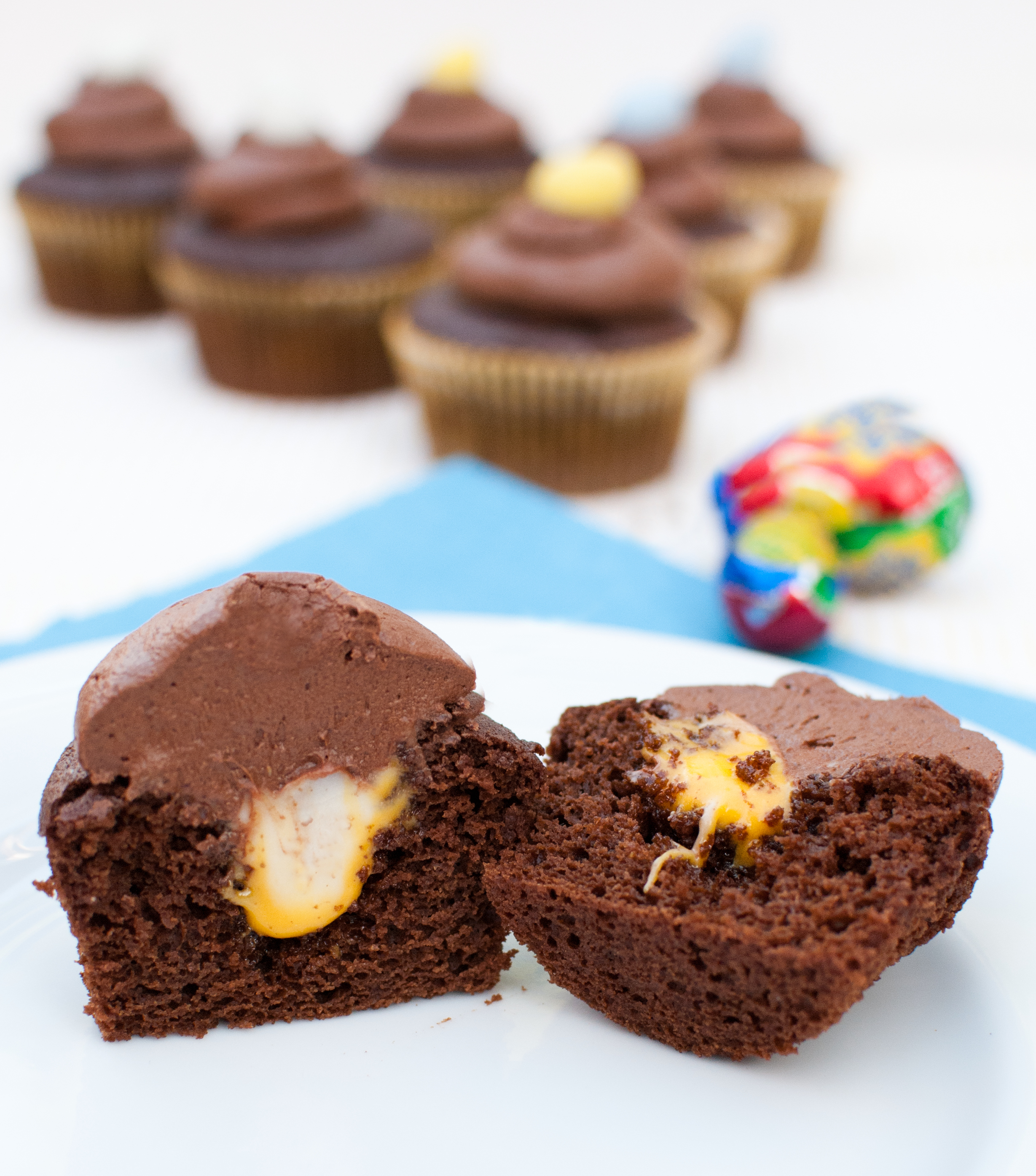 Creme Egg Cupcakes - Baked In