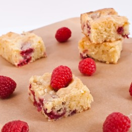 Raspberry White Chocolate Blondies