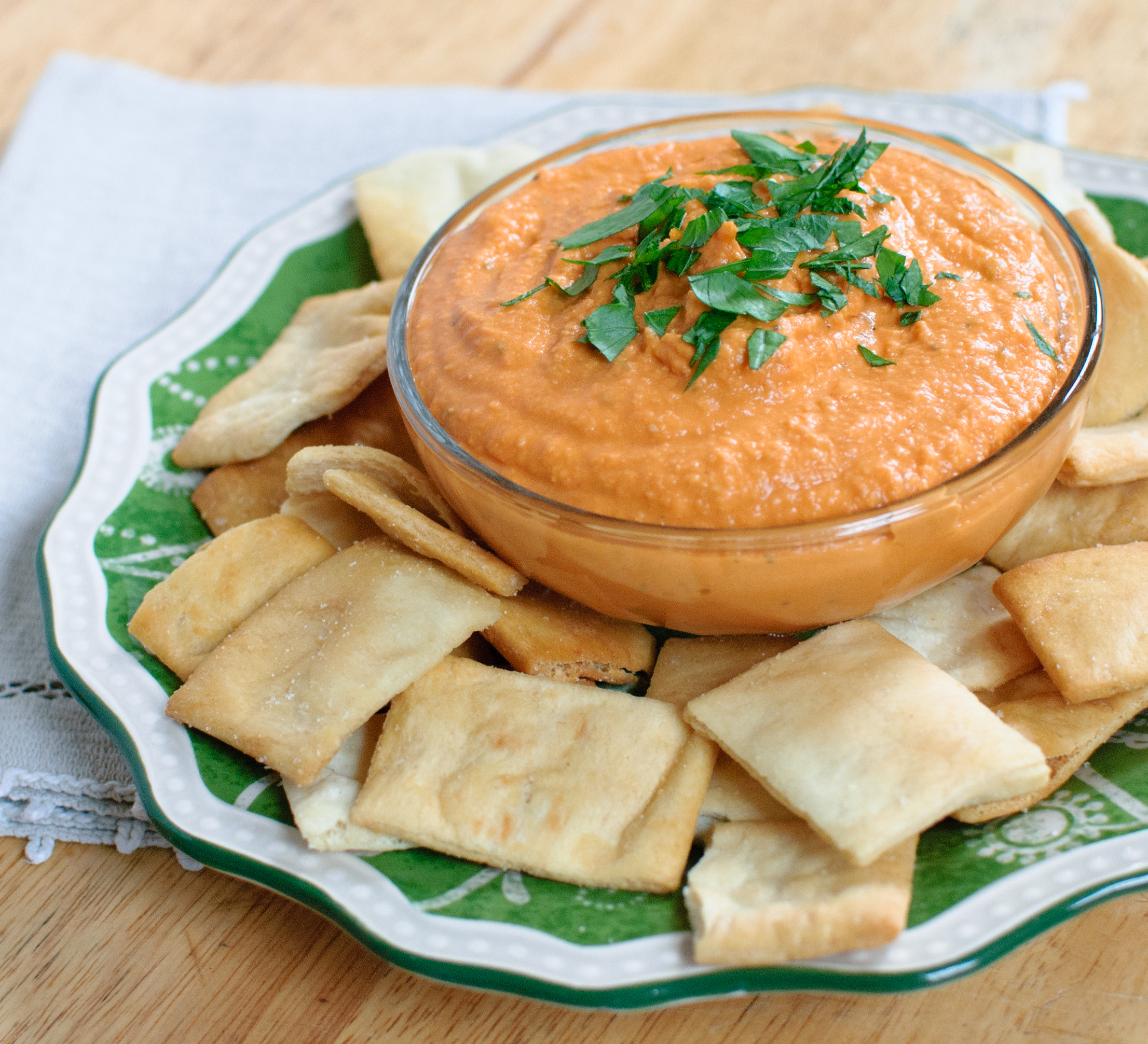 Roasted red pepper hummus baked in for Roasted red peppers hummus