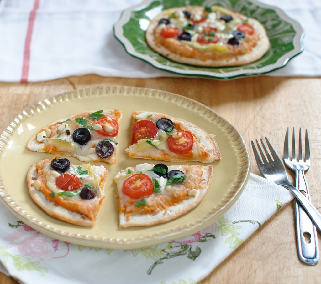 Individual Greek Pita Pizzas - Baked In