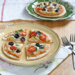Individual Greek Pita Pizzas