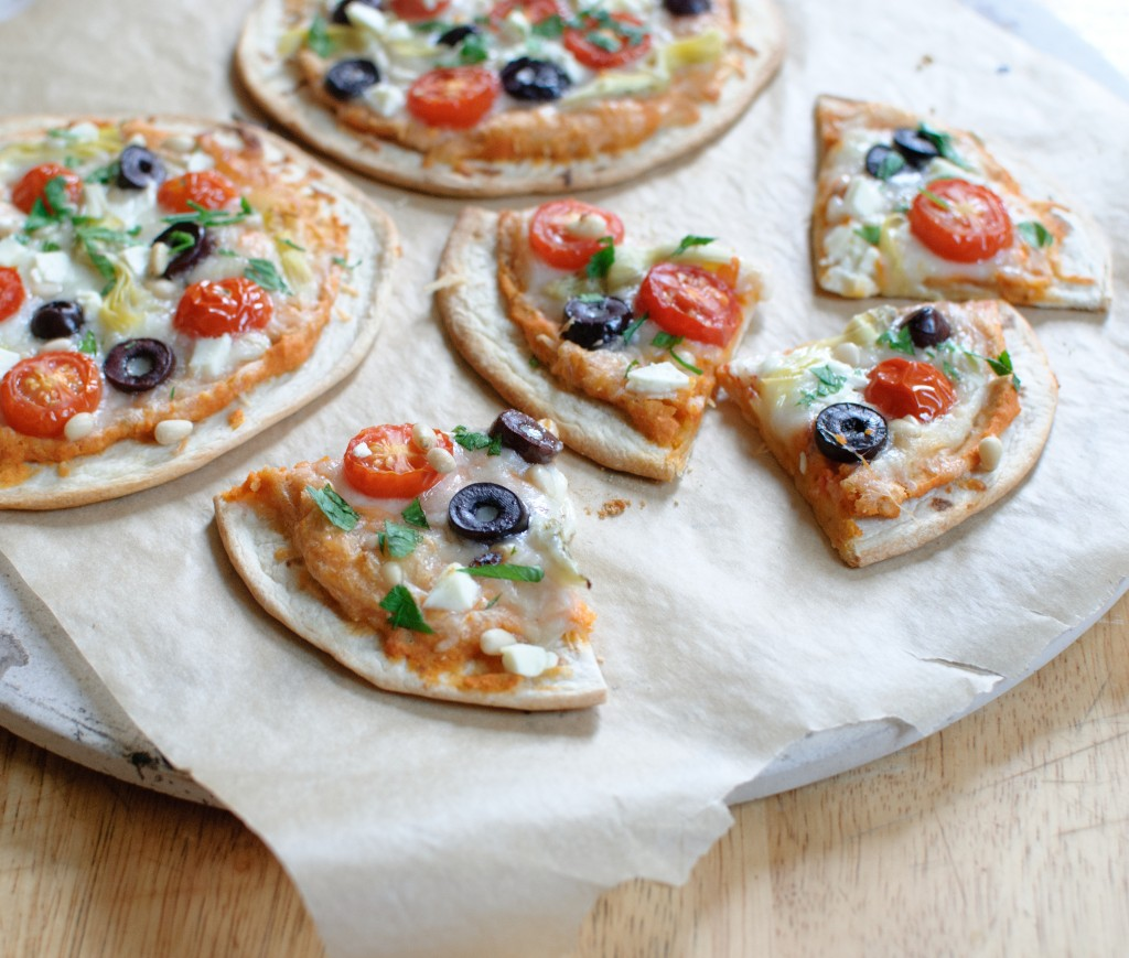 Greek Pita Pizza Recipe — Dishmaps