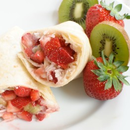 Summer Fruit Dessert Burritos