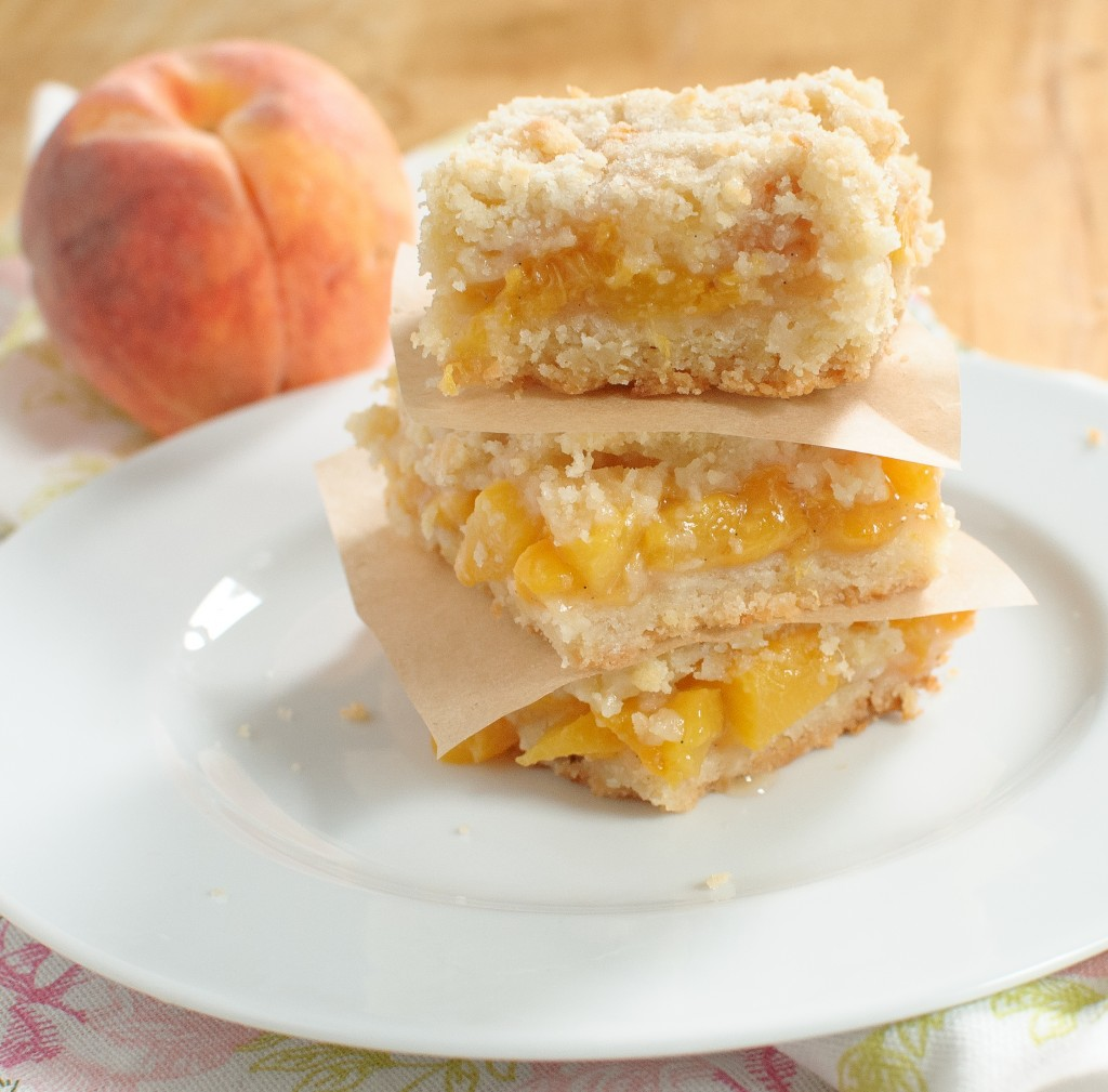Peach Crumb Bars - Baked In