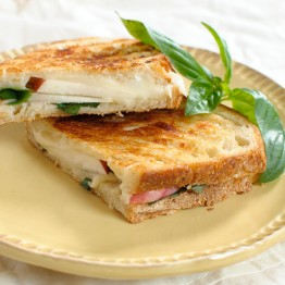 Nectarine Caprese Grilled Cheese