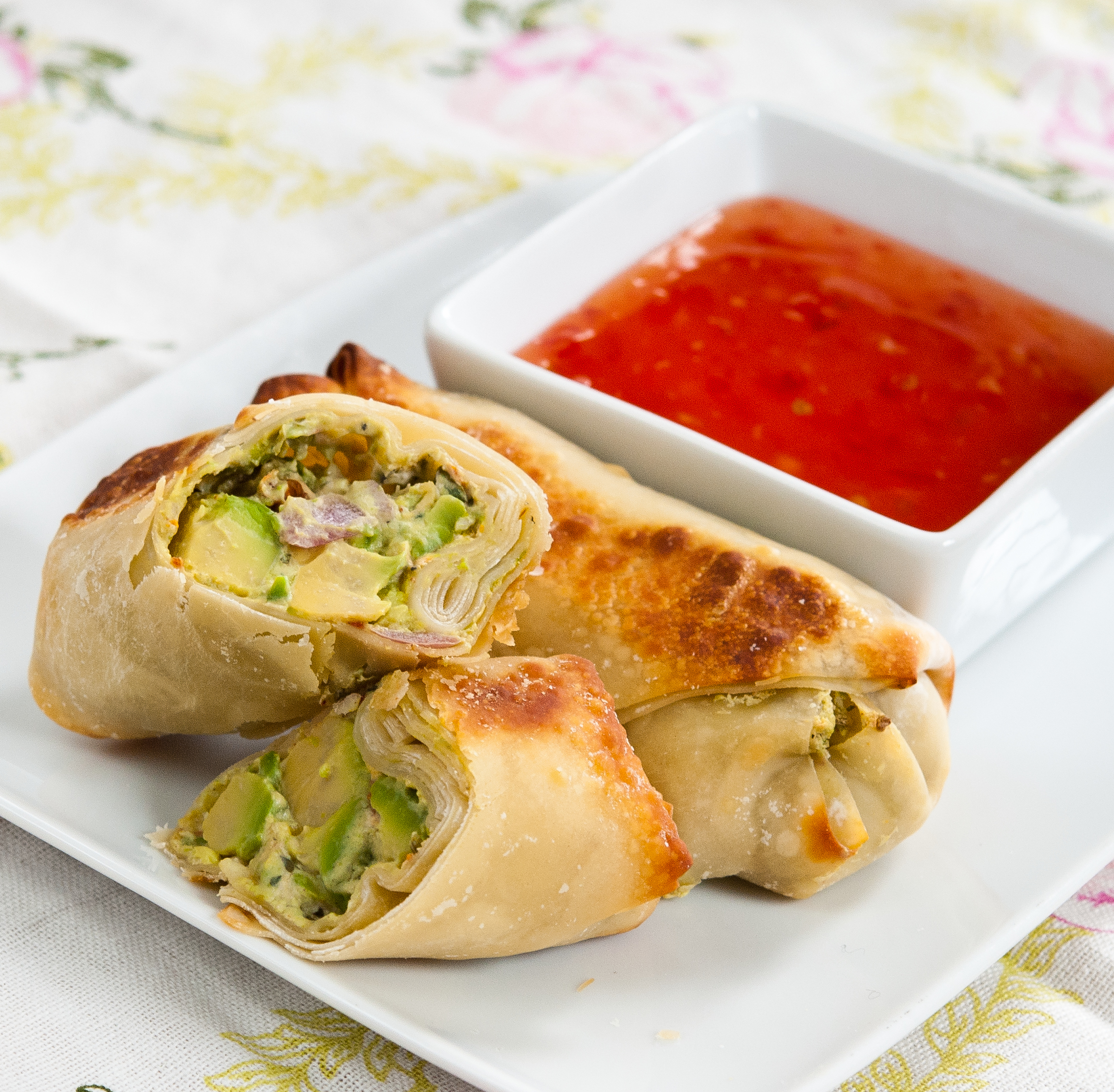 Baked Avocado Egg Rolls - Baked In