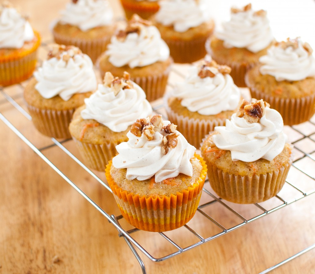 Carrot Cake Cupcakes - Baked In