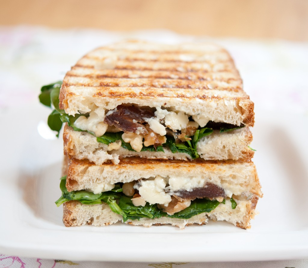 date, walnut & gorgonzola grilled cheese