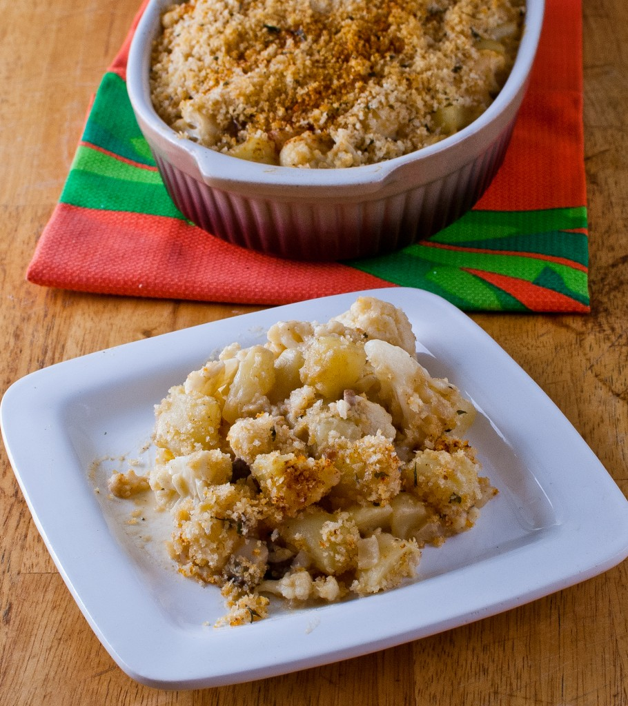 Cauliflower Potato Casserole with no cheese