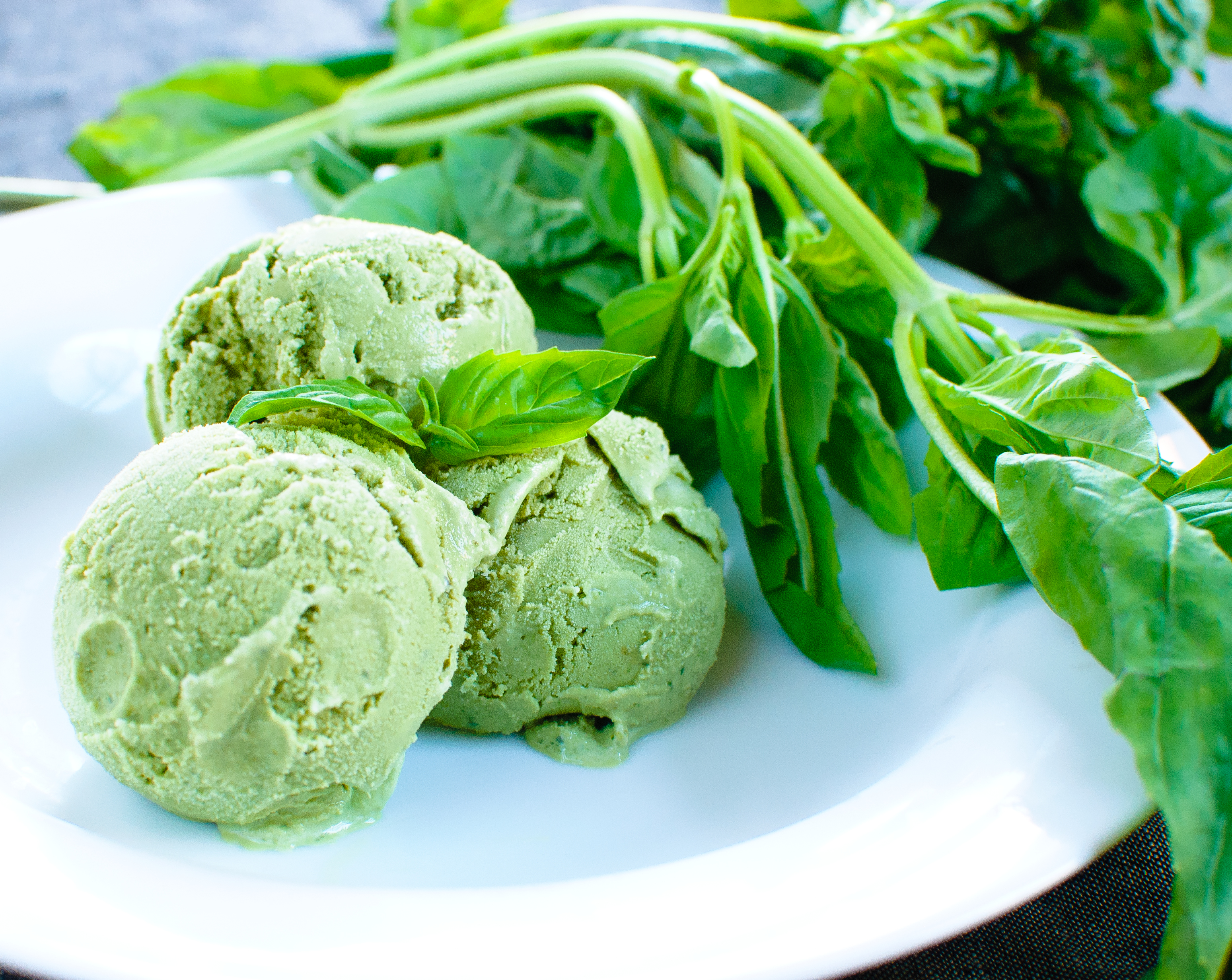 Basil Ice Cream - Baked In