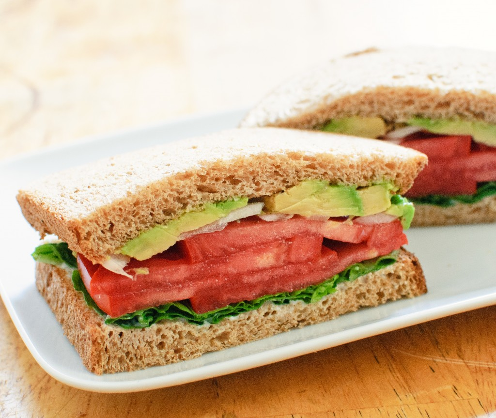Cheese, Tomato & Tofu Sandwich With Avocados Recipe — Dishmaps