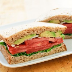 Basil, Onion, Avocado & Tomato (BOAT) Sandwich