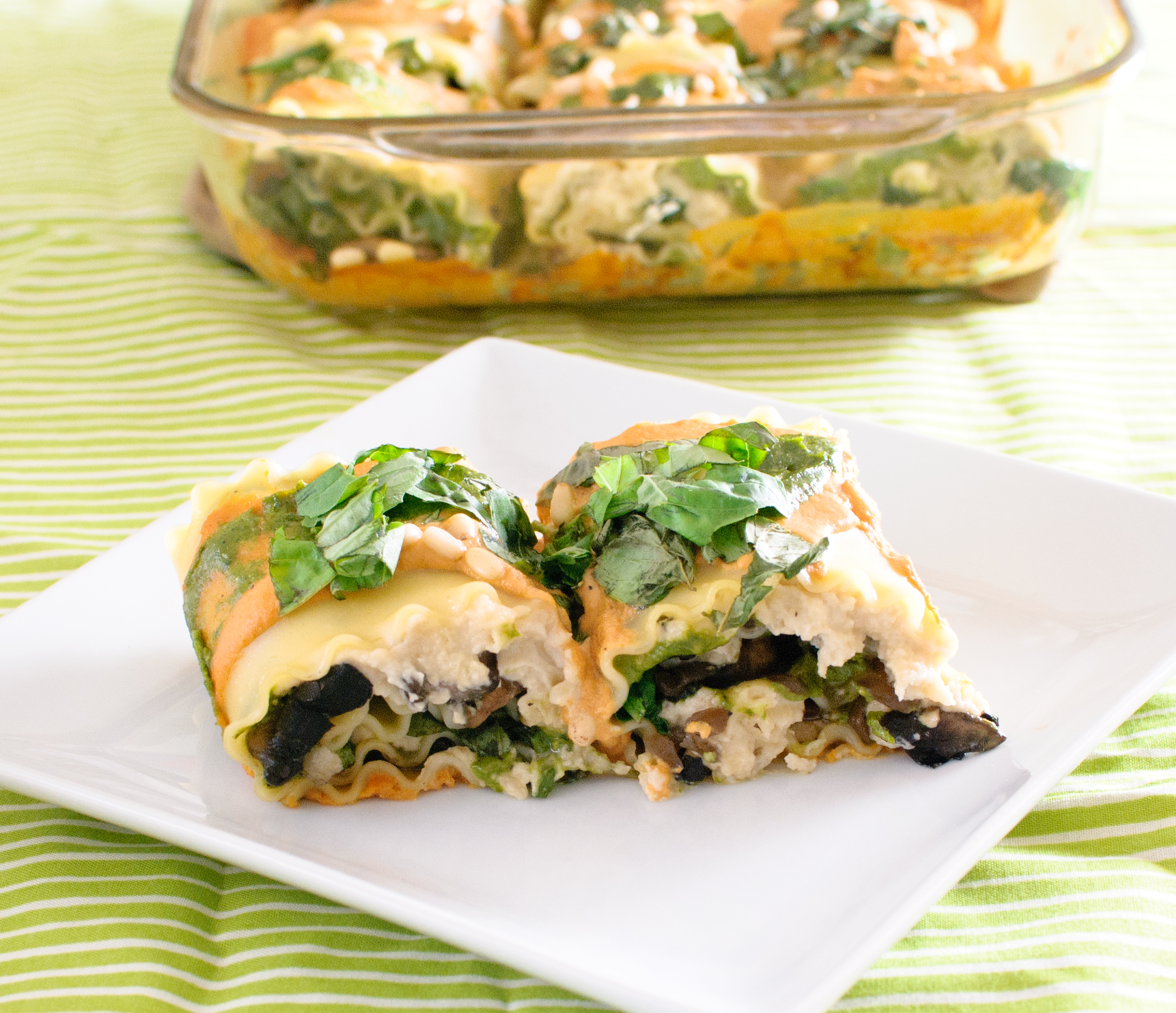 Vegan Spinach & Mushroom Lasagna Rolls with Sun-dried ...