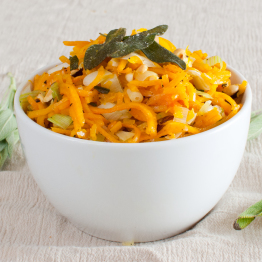 Butternut Squash Noodles with Toasted Hazelnuts and Crispy Sage