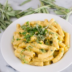 Pasta With Vegan Butternut Squash Sauce