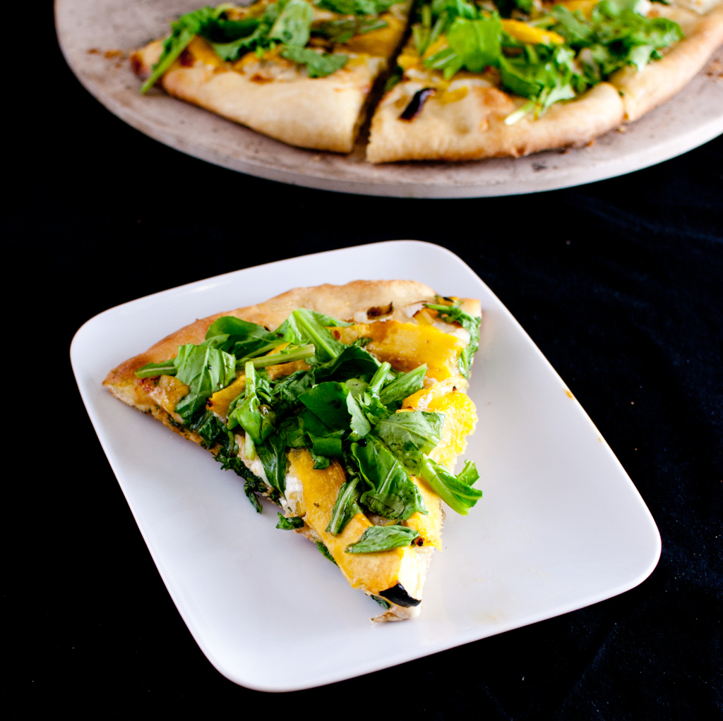 Roasted Acorn Squash And Gorgonzola Pizza Recipe — Dishmaps