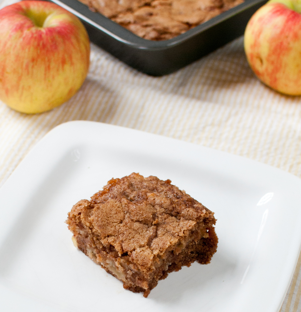 One Bowl Apple Bars | Baked In